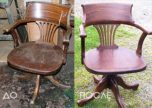 Как отреставрировать деревянное кресло